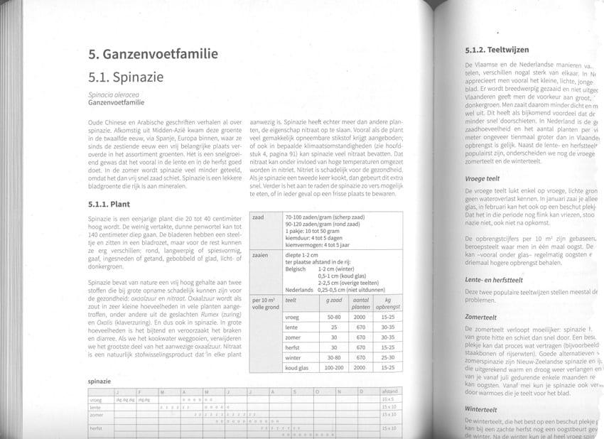 Voorbeeld plantbeschrijving - spinazie