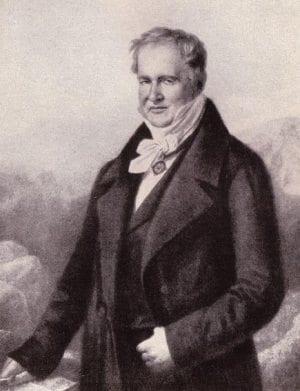 Von Humboldt getekend door Karl Begas, 1848