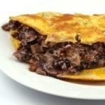 Omelet met radicchio (roodlof)