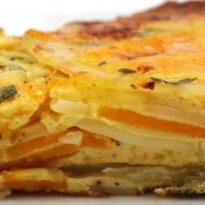 Pompoen-aardappelfritata
