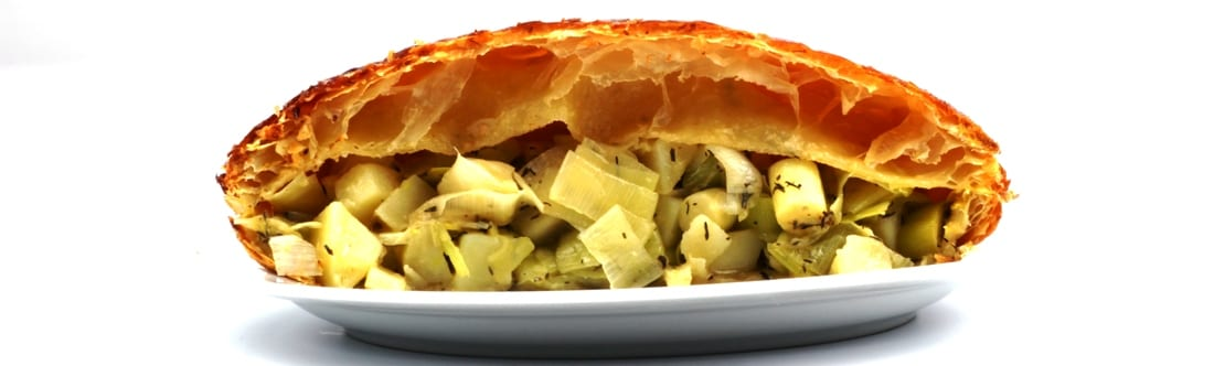 Leek and potatoe pie - breed
