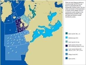 In actie tegen dode vis - EU visgebieden - klein