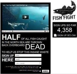 In actie tegen dode vis - EU visgebieden - website actie