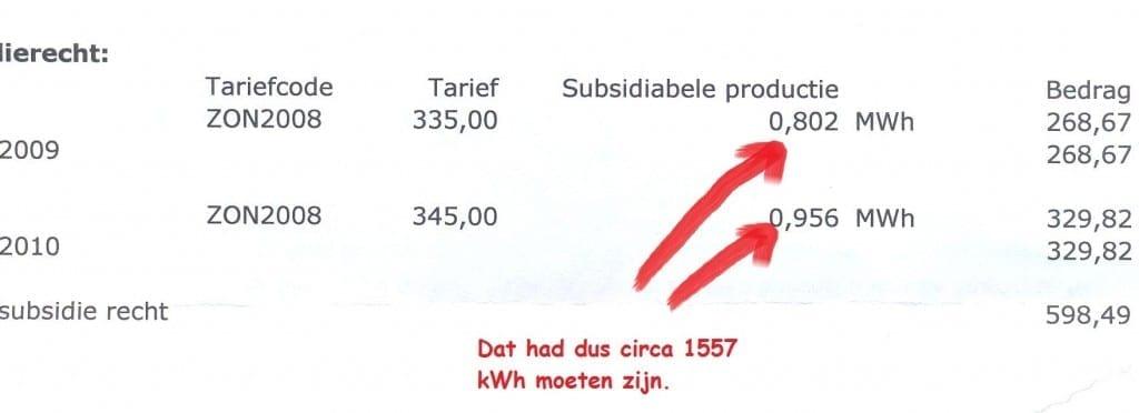 Brief zonnesubsidieverrekening achterzijde - klein