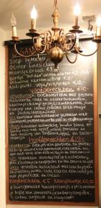 Look - een bijzonder restaurant - menu