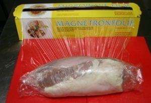 Ham inwikkelen in folie - voor koken