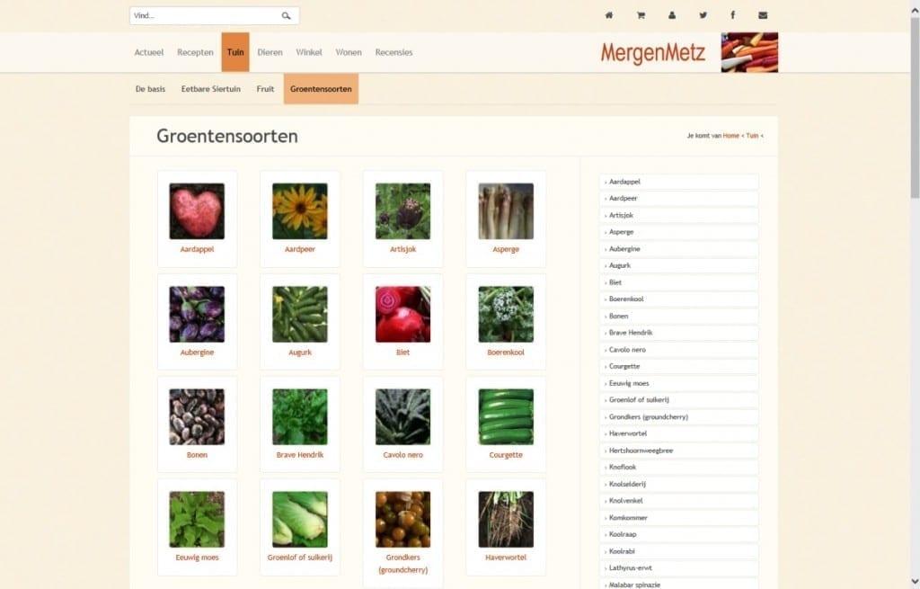Een nieuwe lente en een nieuwe site - groentesoorten