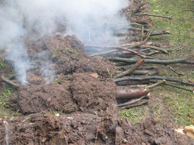 Barbecoa 16 – graszoden omgekeerd er op
