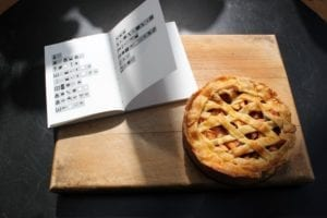Appeltaartvariaties - het boek en de taart