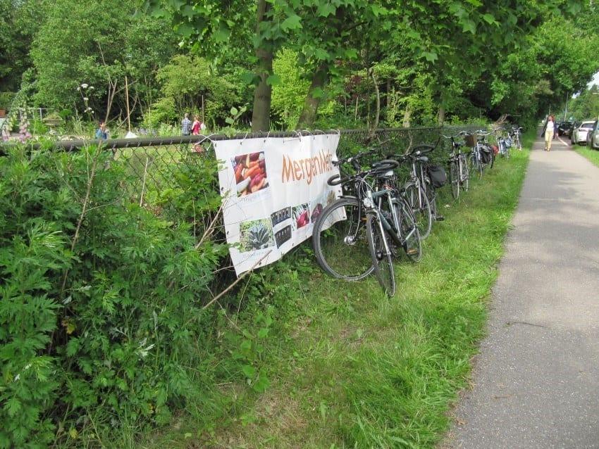 Velen kwamen op de fiets