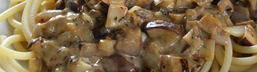 Pasta met kastanjeboleet - 3 breed