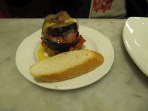 Uit eten in Spanje - Donostia - pintxo 2