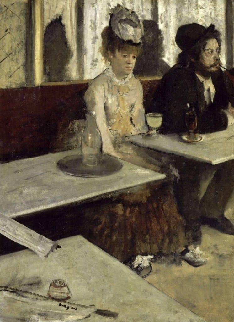 Zilt en bitter - Absint drinkster van Edgar Degas