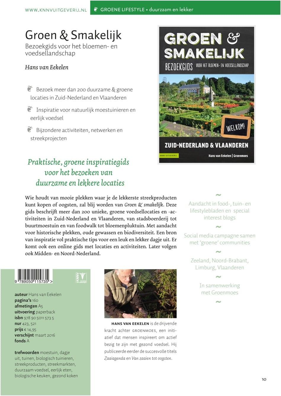 Groen en Smakelijk Zuid Nederland en Vlaanderen - informatieblad