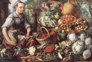 Joachim Beuckelaer (1530-1573) marktvrouw