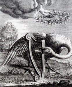 Zingende Zwaan - prent van Reinier van Persijn