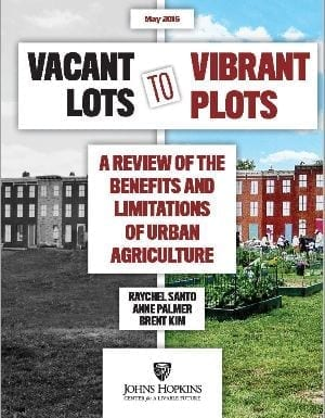 Stadslandbouw - Vacant lots to vibrant plots cover