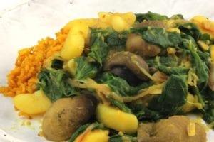 Spinazie-aardappel-paddenstoelcurry 3