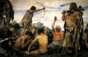 Voedselbos - Jager-Verzamelaar schilderij Viktor Mikhailovich Vasnetsov