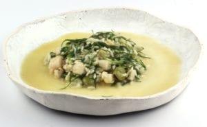 risotto met tuinbonen en landwier 3